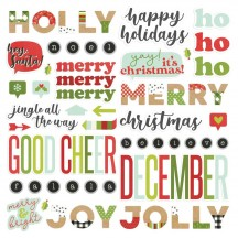 Simple Stories Make It Merry Christmas Foam Stickers 15721