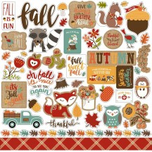 "Echo Park Celebrate Autumn 12""x12"" Element Shape Stickers CAU158014"
