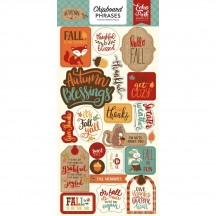 Echo Park Celebrate Autumn Self Adhesive Chipboard Phrase Stickers CAU158022