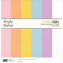 "Simple Stories Color Vibe Spring 12""x12"" Textured Cardstock Kit 15806"