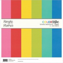 "Simple Stories Color Vibe Summer 12""x12"" Textured Cardstock Kit 15814"
