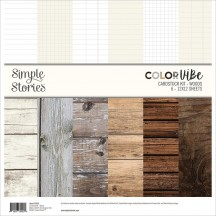 "Simple Stories Color Vibe Woods 12""x12"" Cardstock Kit 15822"