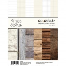 "Simple Stories Color Vibe Woods 6""x8"" Double-Sided Paper Pad 15826"