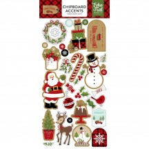 Echo Park Celebrate Christmas Self Adhesive Chipboard Shape Stickers CCH159021