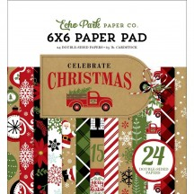 "Echo Park Celebrate Christmas 6""x6'"" Double-Sided Paper Pad 24 Sheets CCH159023"