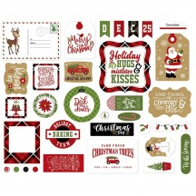 Echo Park Celebrate Christmas Ephemera Die Cut Cardstock Pieces CCH159024