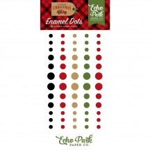 Echo Park Celebrate Christmas Enamel Dots black, red, white, green CCH159028