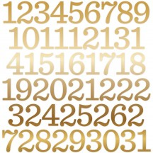 Echo Park Celebrate Christmas Numbers Die-Cut Cardstock Pieces CCH159029