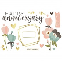 Simple Stories Anniversary Page Pieces Die-Cut Cardstock Embellishments 15914
