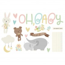 Simple Stories Baby Page Pieces Die-Cut Cardstock Embellishments 15916
