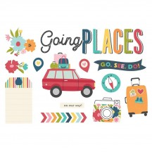 Simple Stories Going Places Page Pieces Die-Cut Cardstock Embellishments 15922