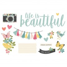 Simple Stories Life is Beautiful Page Pieces Die-Cut Cardstock Embellishments 15927