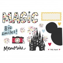 Simple Stories Say Cheese Magic Memories Page Pieces Die-Cut Cardstock Embellishments 15928