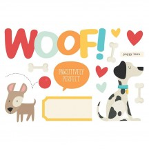 Simple Stories Woof Page Pieces Die-Cut Cardstock Embellishments 15930
