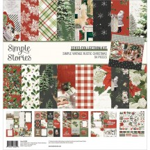 """Simple Stories Simple Vintage Rustic Christmas 12""""x12"""" Collection Kit 16000"""