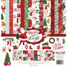 "Echo Park Merry & Bright 12""x12"" Christmas Collection Kit MB160016"