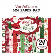 "Echo Park Merry & Bright 6""x6'"" Double-Sided Christmas Paper Pad 24 Sheets MB160023"