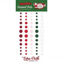 Echo Park Merry & Bright Chrsitmas Enamel Dots green, red, pink, white MB160028