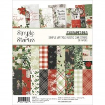"""Simple Stories Simple Vintage Rustic Christmas 6""""x8"""" Double-Sided Paper Pad 16019"""
