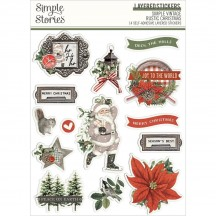 Simple Stories Simple Vintage Rustic Christmas Layered Stickers 16026