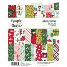 """Simple Stories Holly Days Christmas 6""""x8"""" Double-Sided Paper Pad 16114"""