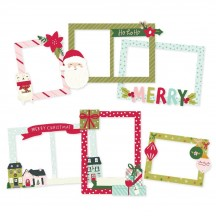 Simple Stories Holly Days Christmas Chipboard Frames 16119