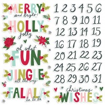 Simple Stories Holly Days Christmas Foam Stickers 16120
