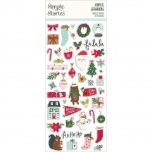 Simple Stories Holly Days Christmas Puffy Stickers 16121