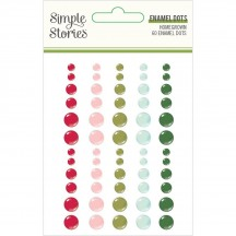 Simple Stories Holly Days Christmas Enamel Dots 16123