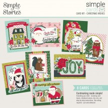 Simple Stories Holly Days Christmas Wishes Card Kit 16129