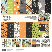 """Simple Stories Spooky Nights Halloween 12""""x12"""" Collection Kit 16400"""
