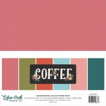 "Echo Park Coffee 12""x12"" Solids Paper Kit CO164015"