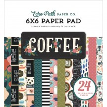 "Echo Park Coffee 6""x6"" Double-Sided Paper Pad 24 Sheets CO164023"