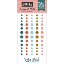 Echo Park Coffee Enamel Dots green, red, pink CO164028