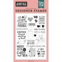 Echo Park Coffee Time Clear Stamp Set CO164040