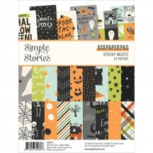 """Simple Stories Spooky Nights Halloween 6""""x8"""" Double-Sided Paper Pad 16414"""