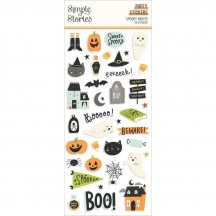 Simple Stories Spooky Nights Halloween Puffy Stickers 16419