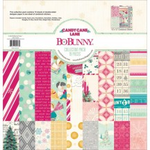 "Bo Bunny Candy Cane Lane 12""x12"" Collection Pack 16516453"