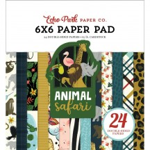 "Echo Park Animal Safari 6""x6"" Double-Sided Paper Pad 24 Sheets ZOO167023"