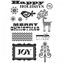 Fancy Pants Clear Stamps - Home For Christmas - 1675