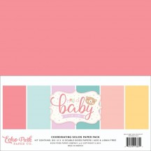 "Echo Park Hello Baby It's A Girl 12""x12"" Solids Paper Kit BG171015"