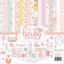 "Echo Park Hello Baby It's A Girl 12""x12"" Collection Kit BG171016"