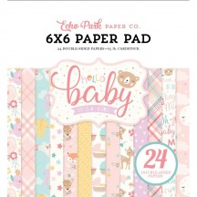 "Echo Park Hello Baby It's A Girl 6""x6"" Double-Sided Paper Pad 24 Sheets BG171023"