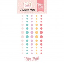 Echo Park Hello Baby It's A Girl Enamel Dots aqua, pink, yellow BG171028