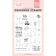 Echo Park Hello Baby It's A Girl Little Baby Clear Stamp Set BG171045
