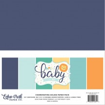"Echo Park Hello Baby It's A Boy 12""x12"" Solids Paper Kit BB172015"