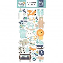 Echo Park Hello Baby It's A Boy Self Adhesive Chipboard Accents Shape Stickers BB172021