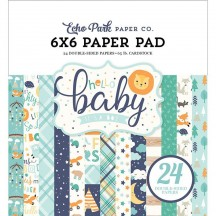 "Echo Park Hello Baby It's A Boy 6""x6"" Double-Sided Paper Pad 24 Sheets BB172023"