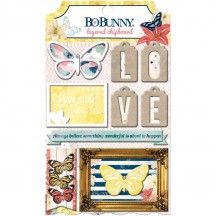 Bo Bunny Sweet Life Self Adhesive Glittered Layered Chipboard 17809856
