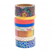 American Crafts Paige Evans Go the Scenic Route Washi Tape Rolls 369777
